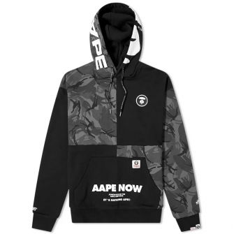 Aape Ape Head Panel Popover Hoody