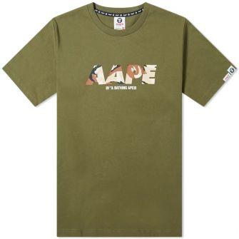 Aape Front Target Tee Green