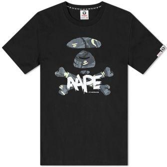 Aape X-bone Glow Camo Tee