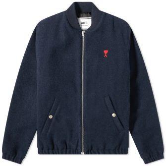 Ami Heart Logo Bomber Jacket