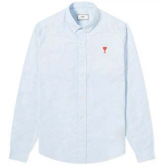Ami Heart Logo Oxford Shirt