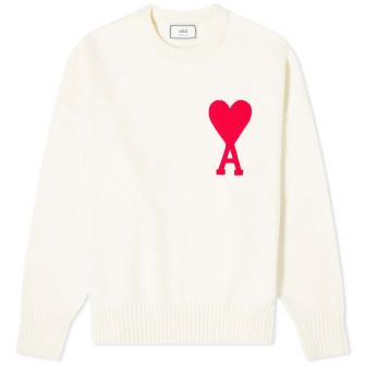 Ami Large A Heart Crew Knit