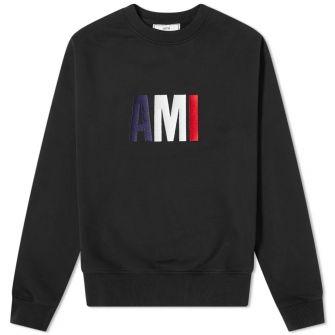 Ami Tricolour Logo Crew Sweat
