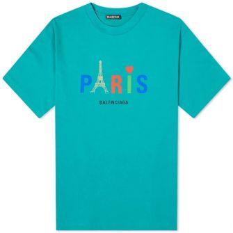 Balenciaga Paris Tourist Logo Tee