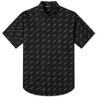 Balenciaga Short Sleeve All Over Print Shirt