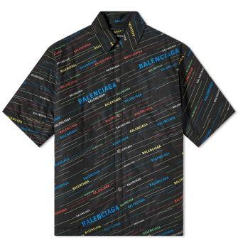 Balenciaga Short Sleeve Padded Shirt