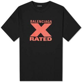 Balenciaga X Rated Logo Tee
