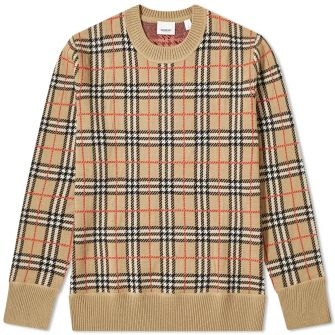 Burberry Fletcher Classic Check Crew Knit