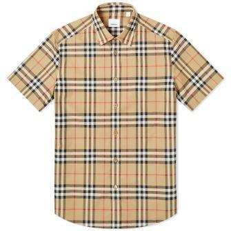 Burberry Short Sleeve Caxton Check Shirt