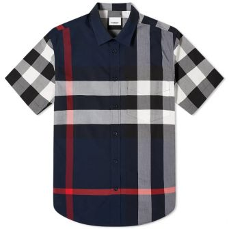 Burberry Short Sleeve Somerton Large Check Shirt