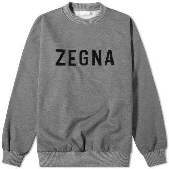 Fear Of God X Zegna Oversized Logo Sweat