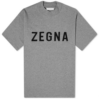 Fear Of God X Zegna Oversized Logo Tee