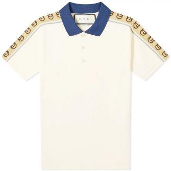 Gucci Taped Logo Polo Shirt