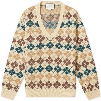 Gucci Wool Alpaca Argyle Knit