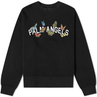 Palm Angels Butterfly College Crew Sweat