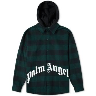 Palm Angels Hooded Logo Overshirt