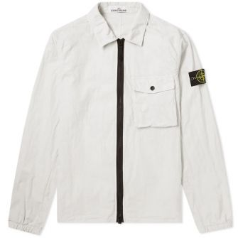 Stone Island Garment Dyed Zip Pocket Overshirt