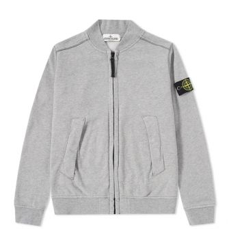 Stone Island Junior Garment Dyed Zip Bomber Jacket
