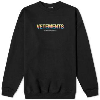 Vetements Think Differently Logo Crew Sweat