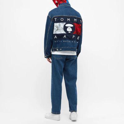 Aape X Tommy Jeans Hooded Insert Denim Jacket