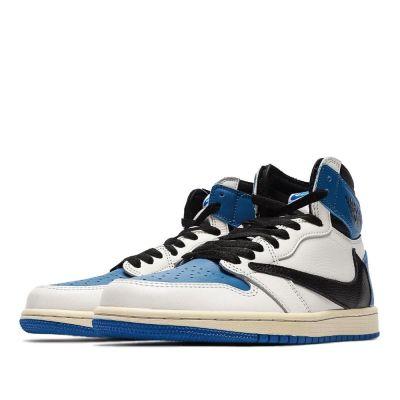 Air Jordan 1 Retro High Og Sp Travis Scott Fragment Military Blue