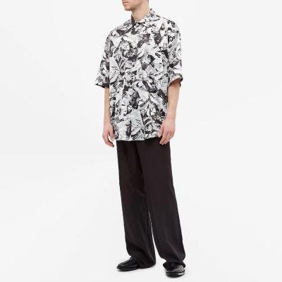 Balenciaga Short Sleeve Newspaper Print Shirt