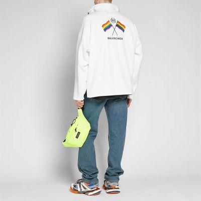 Balenciaga Zip Rainbow Fleece Jacket