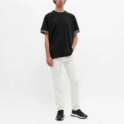 Burberry Oversized Teslow Taped Sleeve Tee