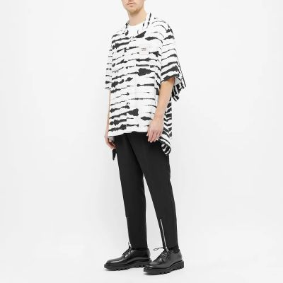 Burberry Zebra Print Oversize Vacation Shirt