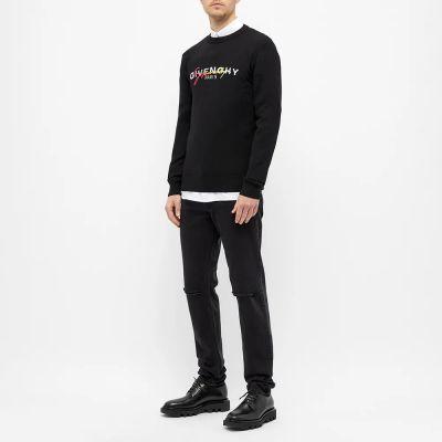 Givenchy Rainbow Logo Crew Knit