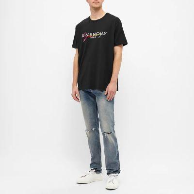 Givenchy Regular Fit Rainbow Signature Logo Tee