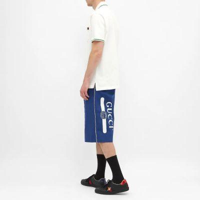 Gucci Printed Logo Leg Short