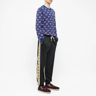 Gucci Technical Jersey Taped Logo Track Pant