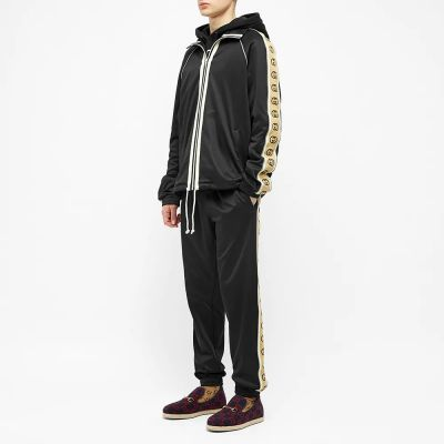 Gucci Technical Jersey Taped Logo Zip Track Jacket