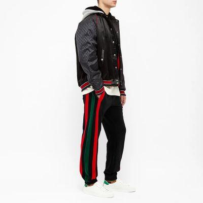 Gucci Velour Grg Stripe Track Pant