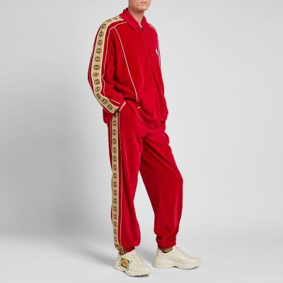 Gucci Velour Taped Oversized Track Pant