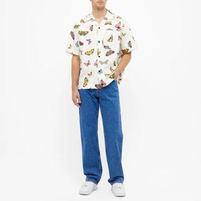 Palm Angels Butterflies Bowling Shirt