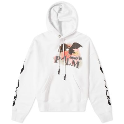Palm Angels Flame Eagle Popover Hoody