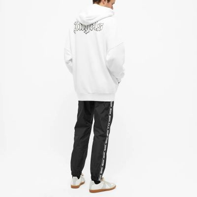 Palm Angels Front And Back Glow In The Dark Logo Popover Hoody