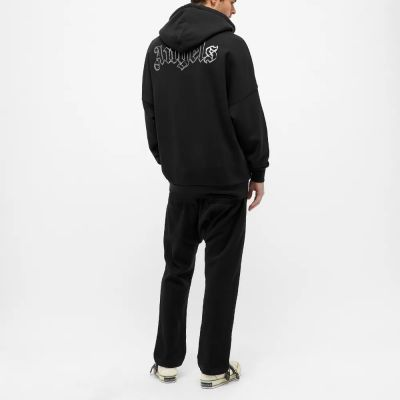 Palm Angels Front And Back Logo Popover Hoody