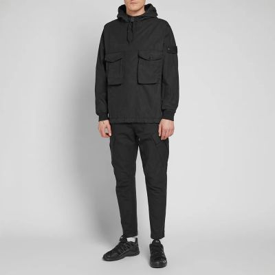 Stone Island Ghost Resin Cotton Popover Hooded Smock