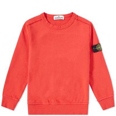 Stone Island Junior Garment Dyed Crew Sweat