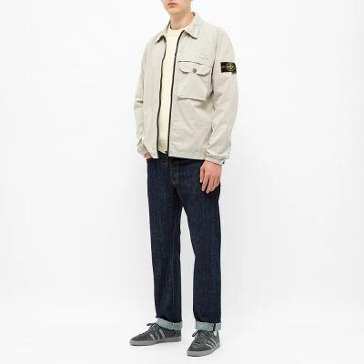 Stone Island Zip Pocket Garment Dyed Overshirt