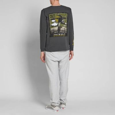 Stussy Long Sleeve Stars Pigment Dyed Tee
